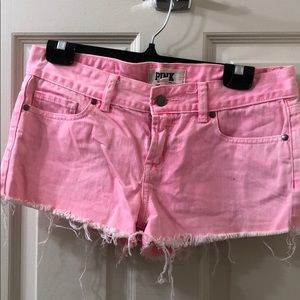 PINK cut off shorts